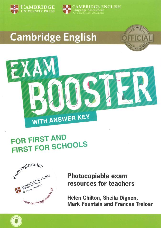 Cambridge English Exam Booster Fur First FCE Und For Schools S Mit Losungen Audio
