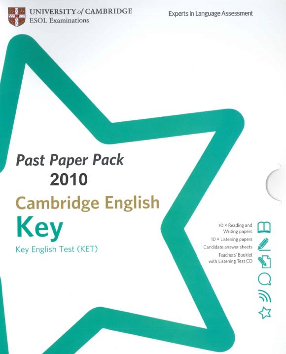 Cambridge English: Key (KET) Past Paper Pack 2010 - Swiss