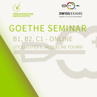 Goehte seminar online - Swiss Exams seminar märz